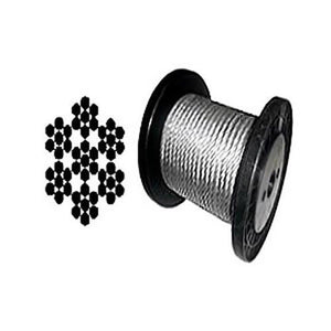 "Black Powder Coated Galvanized Wire Rope 1/16"" 7x7 - 100, 200, 250, 500, 1000 ft"