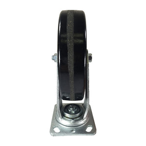 "8"" x 2"" Heavy Duty ""Phenolic Wheel"" Caster - 2 Swivels and 2 Swivels with Brake"