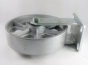 "10"" x 2-1/2"" Steel Wheel Caster - Rigid"