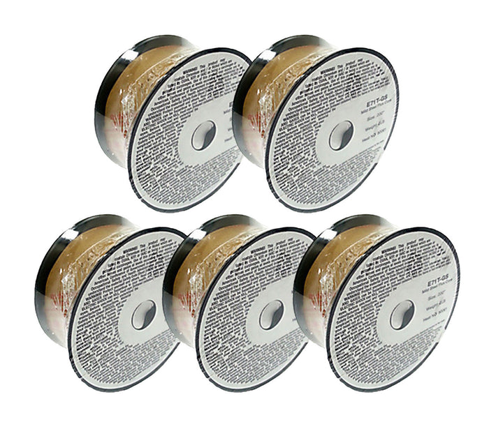 5 x 2lb .030 E71T-GS Flux Cored Gasless Weld Wire 5 Rolls
