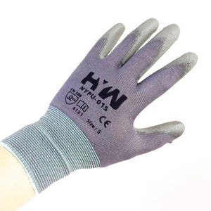 Nylon Work Gloves with Polyurethane Coated Palm, 1 Dozen, Large, X Large