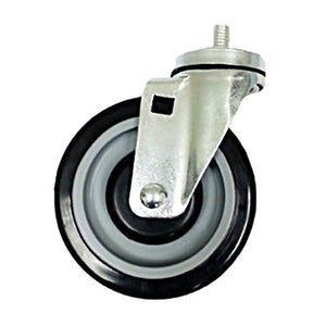 "5"" x 1-1/4"" Polyurethane Wheel on Threaded Stem Caster (B1) - Swivel"