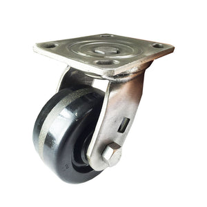 "4"" x  2""  Heavy Duty Stainless Steel  ""Phenolic"" Caster - Swivel"