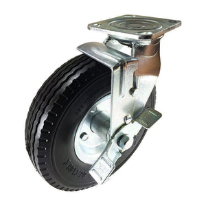 "8"" x 2-1/2"" Flat free Wheel Caster - Swivel with Brake"
