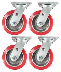 "6"" x 2"" Aluminum wheel Casters -  4 Swivels"