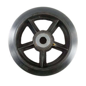 "10"" x 2-1/2"" Rubber on Cast Iron Wheel with Bearing - 1 EA"