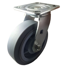 "6"" x 2"" Heavy Duty Non-Marking Rubber Wheel Caster - Swivel  (Flat)"