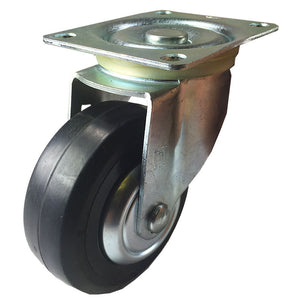 "4"" x 1-1/4"" Plastic Rubber Wheel Caster - Swivel"