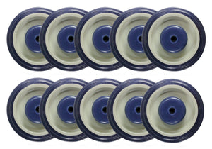 "5"" x 1-1/4"" Polyurethane Shopping Cart Wheel with Axles and Nuts (5/16"") - 10 EA"