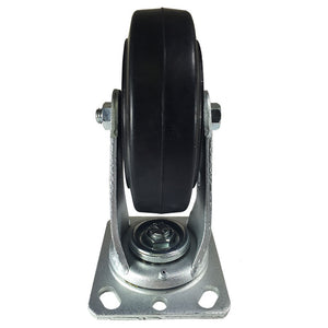 "6"" x 2"" Heavy Duty ""Rubber on Cast Iron"" Caster - Swivel"