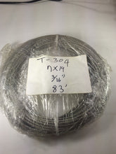 "Special Price T-304 Grade 7 x 19 Stainless Steel Cable Wire Rope 3/16""- 83 ft"