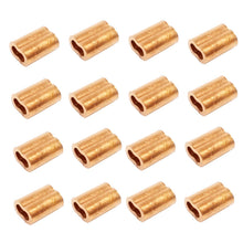 10ea Copper Swage Sleeves for Wire Rope 1/4""