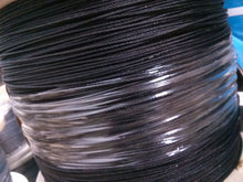"Black Powder Coated Galvanized Wire Rope 1/4"" 7x19 - 50, 100, 250, 500, 1000 ft"