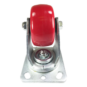 "4"" x 2"" Heavy Duty ""Polyurethane Wheel"" Caster - Swivel"