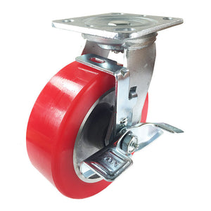 "6"" x 2"" Aluminum wheel Casters -  Swivel with Brake"