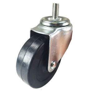 "4"" x 1-1/4"" Hard Rubber on Threaded Stem Caster (B1) - 4 Swivels"