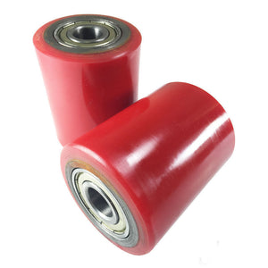"Brand New Pallet Jack Poly Load Wheels With Bearings 2.75""D x3.75""W - A Pair"