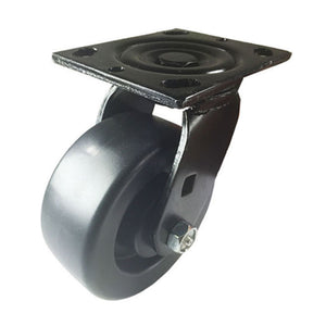 "5"" x 2"" Heavy Duty Plastic Caster - Swivel (Black)"