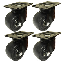 "3""  Machine Swivel Plate Caster Nylon Wheel 550 lbs Capacity 4 EA"