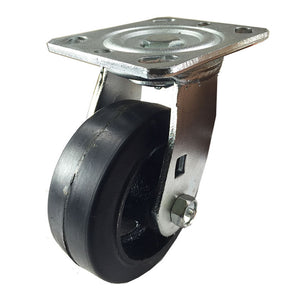 "5"" x 2"" Heavy Duty ""Rubber on Cast Iron"" Caster - Swivel"