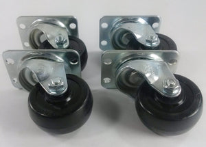 "2""  Hard Rubber Wheel Caster - 4 Swivels"