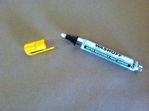 Paint Marker : U-Mark Wash Off YELLOW (Water removable) 1 dozen
