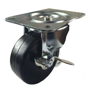 "4"" x 1-5/16"" Hard Rubber Wheel Caster -  Swivel"
