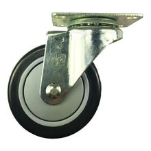 "4"" x 1-1/4"" Polyurethane on plastic caster (A1) - 1 Swivel"