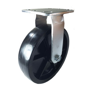 "8"" x 2"" Heavy Duty Plastic Caster - Rigid"