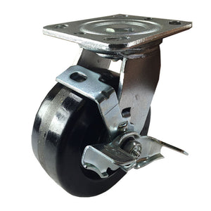 "5"" x 2"" Heavy Duty ""Phenolic"" Caster - Swivel with Brake"