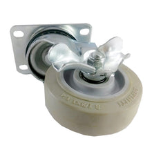 "3-1/2"" x 1-1/4"" Non-Marking Rubber Wheel Caster (A1) - Swivel with Brake"