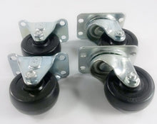 "2""  Hard Rubber Wheel Caster - 4EA"