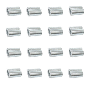 10ea Zinc Plated Copper Swage Sleeves for Wire Rope 1/4""