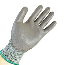 HYW 36 Pairs 13 Gauge HPPE Cut Resistant Polyurethane Palm Coated Glove Gray New