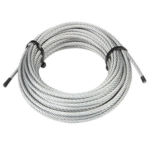"T-304 Grade 7 x 19 Stainless Steel Cable Wire Rope 1/4""- 50 ft"