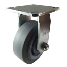 "5"" X  2""  Non-Marking Rubber Wheel Caster - Rigid (Flat)"
