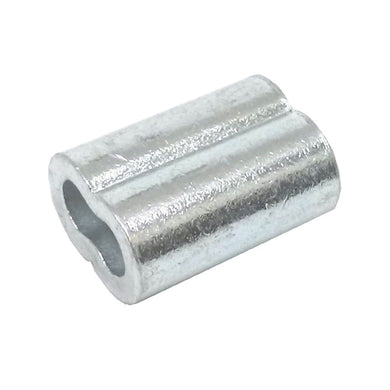 25ea Zinc Plated Copper Swage Sleeves for Wire Rope 1/8