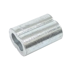 25ea Zinc Plated Copper Swage Sleeves for Wire Rope 1/8""