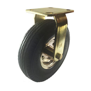 "8"" x 2-1/2"" Flat free Wheel Caster Brass plated - Rigid"