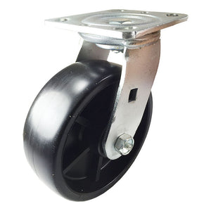 "6"" x 2"" Heavy Duty Plastic Caster - Swivel"