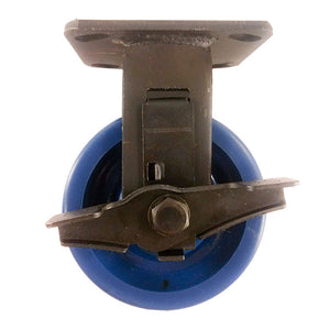 "5"" x 2""  Solid Polyurethane Wheel Caster - Rigid with Brake"