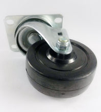 "3-1/2"" x 1-1/4"" Hard Rubber Wheel Casters (A1) - 4 Swivels with 2 Brake"