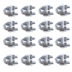 10ea Drop Forged Wire Rope Clips 1/8""