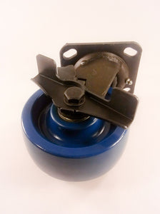 "5"" x 2""  Solid Polyurethane Wheel Caster - Swivel with Brake"