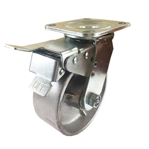 "5"" x 2""  Steel Wheel Caster - Swivel with Total Lock Brake"