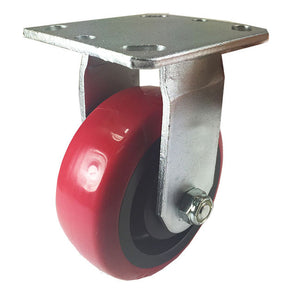 "5"" x 2"" Heavy Duty ""Polyurethane Wheel"" Caster - Rigid"