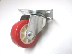 "3"" x 1-1/4"" Polyurethane Wheel Casters (A2) - 2 Swivels & 2 Swivels with  Brake"