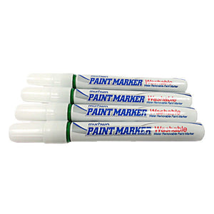 Washable Green Industrial Paint Markers - 12 pcs