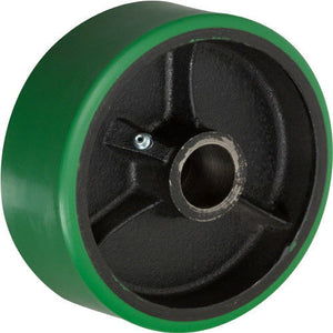 "8"" x 2"" Polyurethane on Cast Iron Wheel with Bearing - 1 EA"