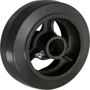 "6"" x 2"" Rubber on Cast Iron Wheel with Bearing - 1 EA"
